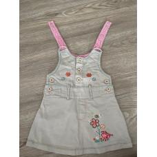 Sommer Kleid Trägerkleid Mädchen Gr. 74