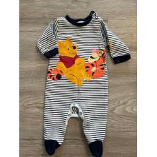 Baby Strampler Schlafanzug Overall Gr. 56 Winnie Pooh