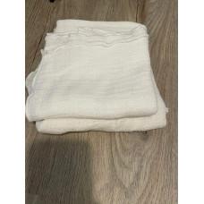2 Baumwolltücher, Mullwindeln weiß