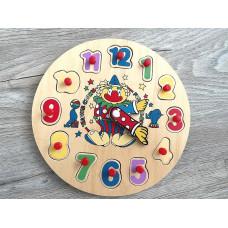 Holz Spielzeug Puzzle Uhr Lernspielzeug