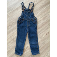 Latzhose Jeans Hose mit Träger Gr. 92