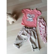 Luftige Hose mit T Shirt und Body Gr.86