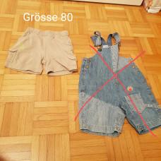 1 Paar kurze Hosen in Grösse 80