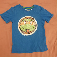 T-Shirt Pailetten Gr 122/128 Ninja Turtles
