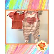 Baby Set T-Shirt und Strampler Gr. 62 Flohmarkt