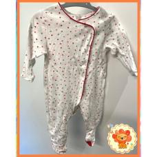 Pyjama Strampler Gr. 68-74 Mädchen Flohmarkt